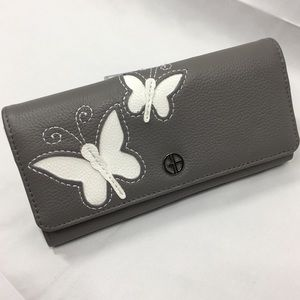 Giani Bernini Leather Wallet Butterfly Trifold
